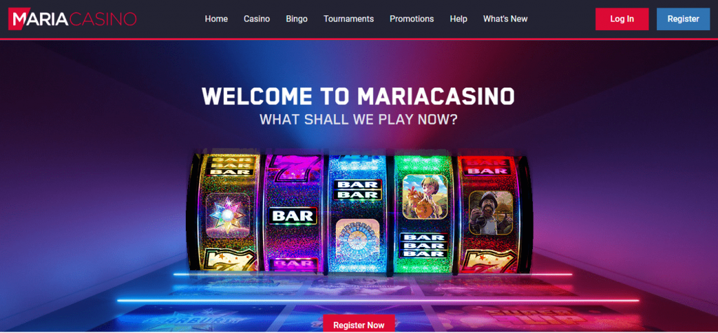 Web site do Marina Casino